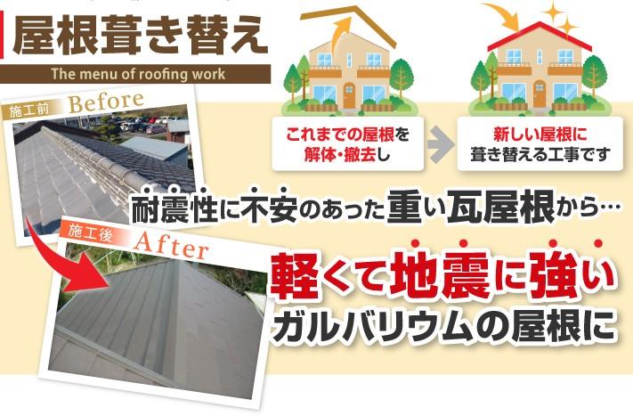 屋根葺き替え工事