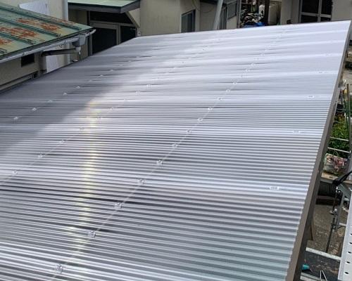 カーポート屋根取り替え後