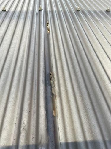 カーポート屋根の修理前