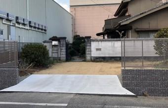 外構工事駐車場入り口完成