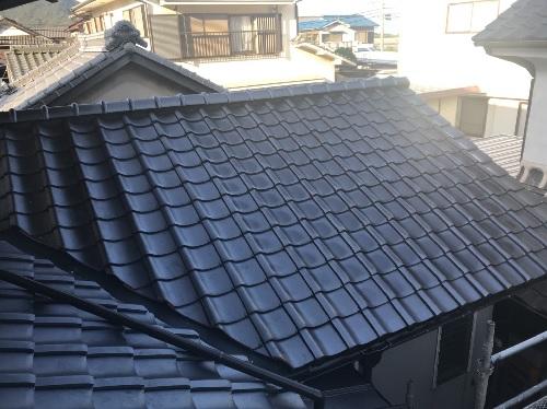 瓦屋根葺き替え工事後