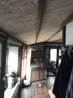 廊下部分天井のリフォーム工事前