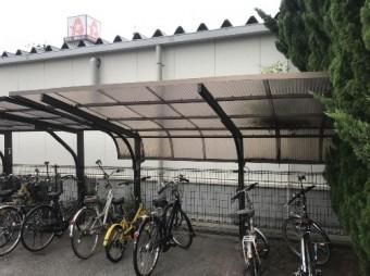 駐輪場屋根工事後写真