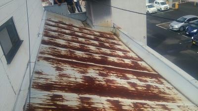 居酒屋店舗屋根補修修理前