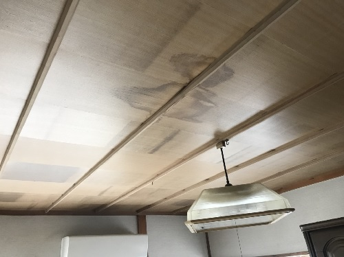 雨漏り天井染み