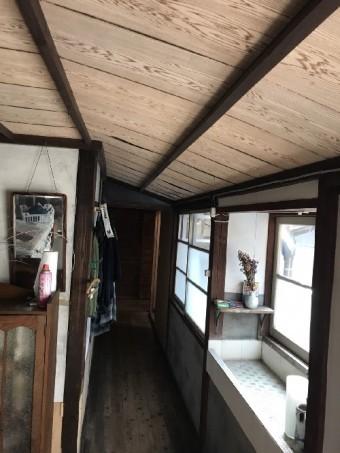 内海町廊下部分天井工事後写真①
