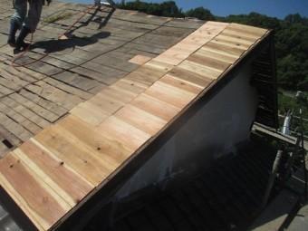 屋根板の補強写真