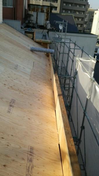 居酒屋店舗屋根補修下地