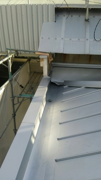 居酒屋店舗屋根補修完成写真
