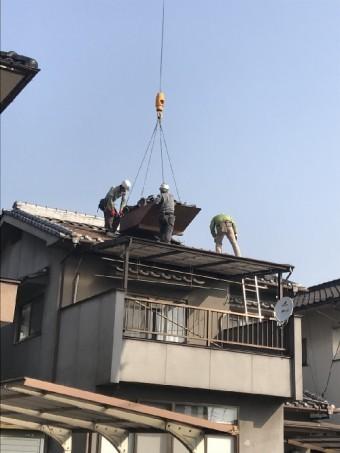 瓦屋根葺き替え工事様子写真