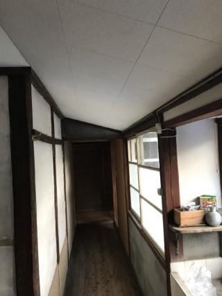廊下部分天井工事後写真①