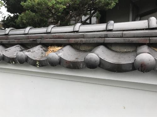 塀瓦修理前写真