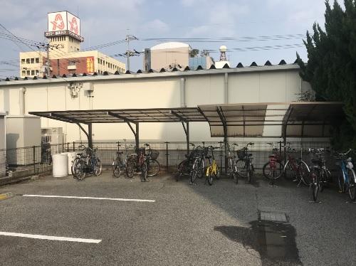 福山市宝町駐輪場屋根写真