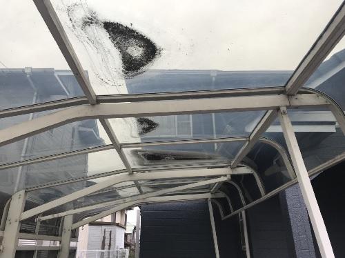 福山市明王台カーポート屋根修理写真