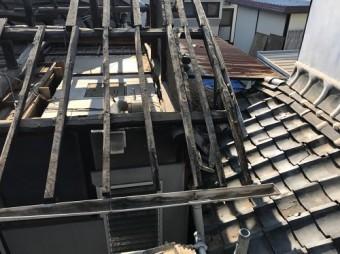 内海町雨漏り修理下地部分の写真②