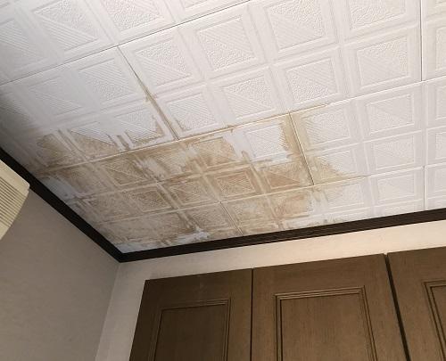 天井の雨漏り補修