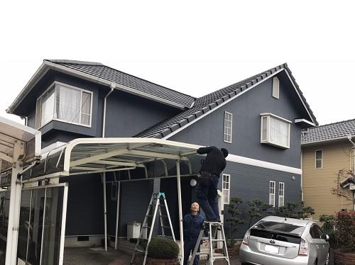 カーポート屋根工事写真