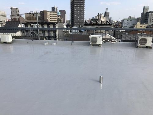屋上ウレタン防水後写真