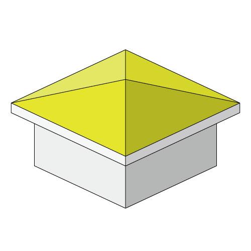 コラム用方形屋根