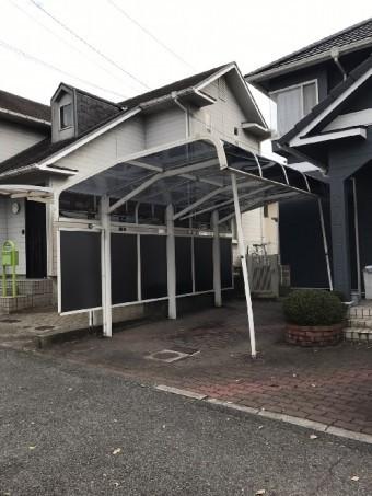 カーポート屋根完工後写真