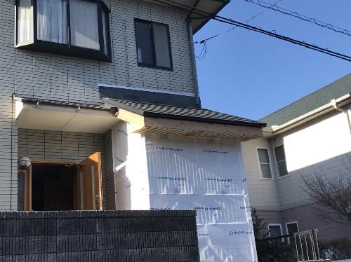 福山市明王台増築屋根設置写真