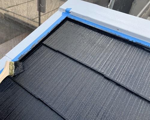 屋根塗装端