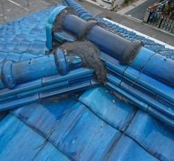 屋根補修で棟積み直し