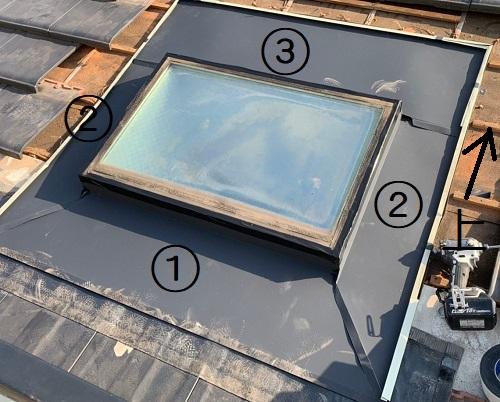 天窓板金カバー