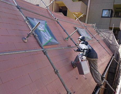 屋根塗装写真