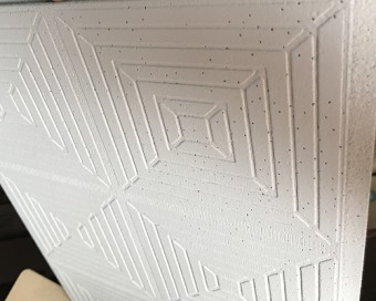 交換前の天井板