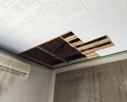 天井板交換