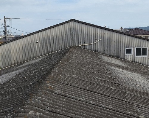 福山市屋根カバー工法前