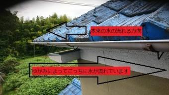 雨樋の劣化写真
