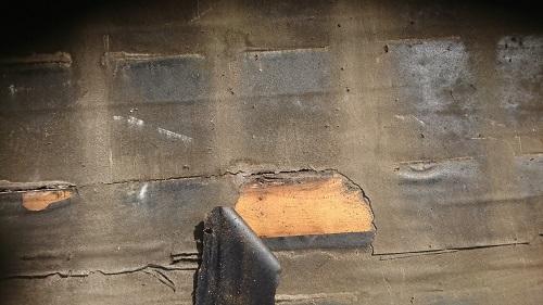防水紙の劣化