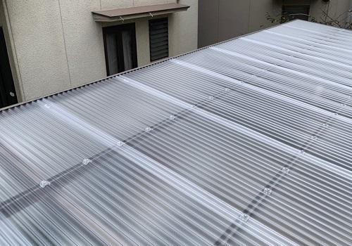 車庫屋根完工