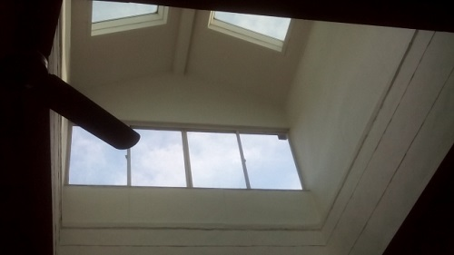 天窓雨漏り点検