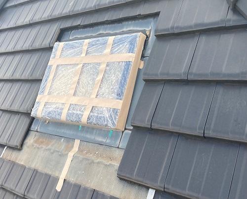 天窓雨漏り修理前