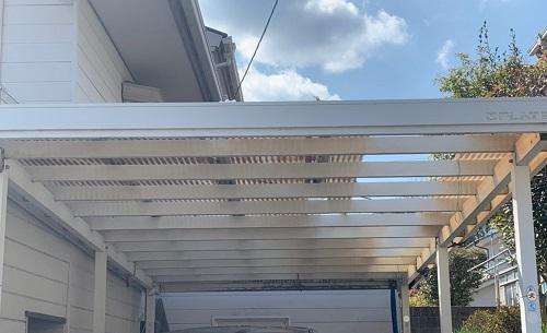 駐車場屋根の劣化