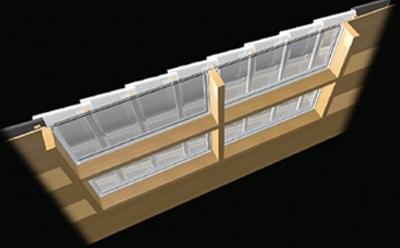 旭硝子の「ガラス瓦採光システム