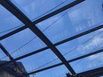 ポリカーボネート屋根の修繕完了