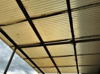 古くなった波板屋根