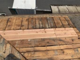 屋根板補修