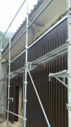 蔵外壁塗装前