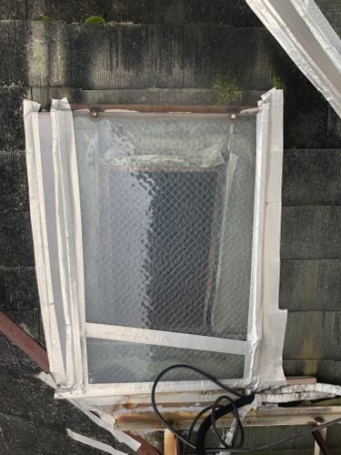 福山市緑陽町で屋根の葺き替え・雨樋の交換・軒天の張替工事をする為の調査に行ってきました