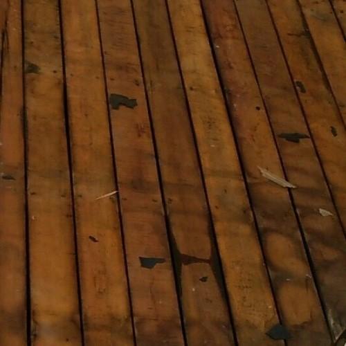 瓦棒葺き替え前野地板