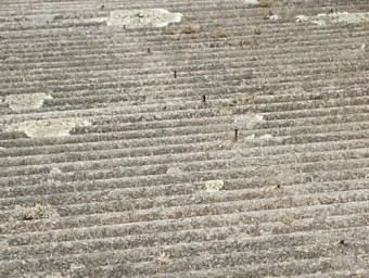 テラス屋根貼り替え工事前
