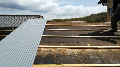 倉庫屋根雨漏り修理写真03