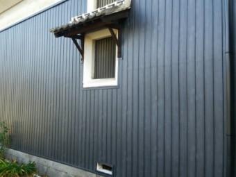 蔵外壁貼り替え工事
