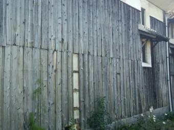 蔵外壁破損