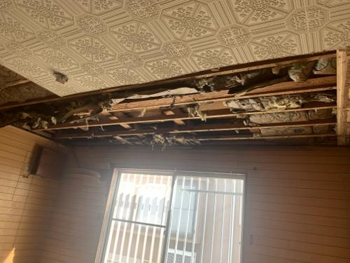 空き家雨漏り修理室内解体